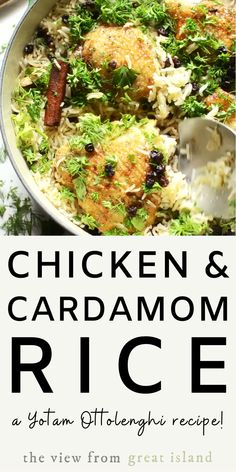 Chicken with Caramelized Onions and Cardamom Rice, from Jerusalem ~ a delicious one pot meal from the great Yotam Ottolenghi. # Chicken with Caramelized Onions and Cardamom Rice, from Jerusalem ~ a delicious one pot meal from the great Yotam Ottolenghi. Easy Chicken Recipes, Healthy Dinner Recipes, Cooking Recipes, Recipe Chicken, Ottolenghi Recipes, Yotam Ottolenghi, One Pot Rice Meals, Middle Eastern Recipes, Mediterranean Recipes