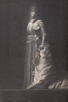 Fernand Khnopff (Belgian, The Sphinx, 1889 Nocturne, Le Sphinx, Expositions, High Fantasy, Illustrations, Gravure, Dark Art, Les Oeuvres, Art History
