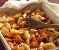 Sweet potatoes and apples
