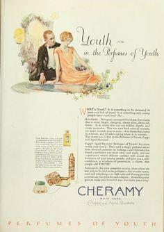 Cheramy Vintage Makeup, Vintage Beauty, Vintage Ads, Old Ads, Vintage Perfume, Graphic Design Art, Archive, Kiss, Bathroom