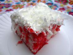 Raspberry Zinger Poke Cake | veronicascornucopia.com