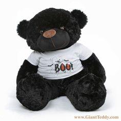 Send YOUR Boo a giant Halloween teddy bear wearing a Boo! shirt. 3foot tall Juju Cuddles