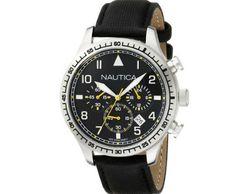 Nautica Men's BFD 105 Chrono Analog Display Analog Quartz Black Watch ►► http://www.gemstoneslist.com/mens-watches/nautica-mens-watches.html?i=p