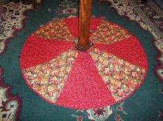 Quilted Gingerbread Christmas Tree Skirt by MessageQuiltsbyTaffy, $35.00