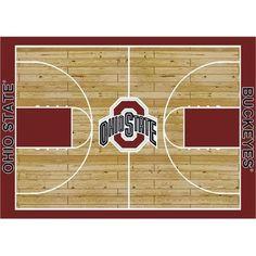"College Court Ohio State Buckeyes Rug Size: 10' 9""x13' 2"" $718.80"