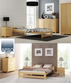 🛌 bed made of pine, equipped with set of flexible slats and lacquered is available in a wide range of size variants: Small Double, European Double or European Wood Bedroom Sets, Bedroom Furniture, Diy Storage Bench, King Bedroom, Wood Beds, Double Beds, How To Make Bed, Bed Frame, Interior Design Living Room