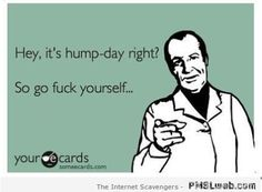 1-sarcastic-hump-day-ecard | PMSLweb Hump Day Meme, Wednesday Humor, Things To Think About, The Funny, Sarcastic Humor, Funny Memes, Hoe, Laughter, Funny Pictures