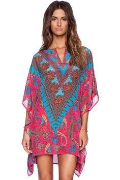 Beach cover-up   paisley-print-handkerchief-hem-dress