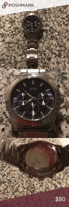 Men's Guess watch Beautiful, worn THREE times, men's Guess watch! NEW condition, great for a Christmas gift! No scratches on face Guess Accessories Watches