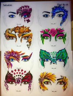 Amazing designs by Teresa Mullin on the Training Tried and Tested Boards, the full range is available on our website www.thefacepaintingshop.com