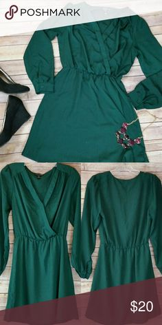 Spotted while shopping on Poshmark: Pretty emerald Dress! #poshmark #fashion #shopping #style #Aqua #Dresses & Skirts