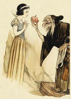 Gustaf Tenggren - Snow White and the Seven Dwarves Concept Art.