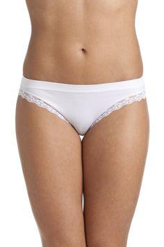 Camille White Seam Free Lace Trim Soft Comfort Brief Lace Trim b3b598eb5
