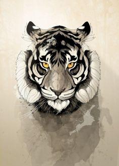 Tiger by Rafapasta CG | Displate