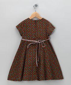 Brown Polka Dot Dress corduroy