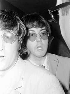 Paul and John in Essen, Germany 1966