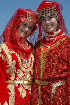 Turkish girls in traditional costumes