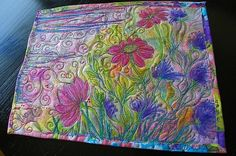 MarveLes COSMO SPRING Collage Art Quilt Mixed Media by marveles, $150.00
