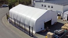 Economical and durable storage tents ✓ Cost reduction by self assembly ✓ Industry quality for sustainable use ✓ Free construction drawings and structural calculations Pvc Fabric, Construction Drawings, Scaffolding, Galvanized Steel, Sustainability, Building, Outdoor Decor, Rolling Scaffold, Tents
