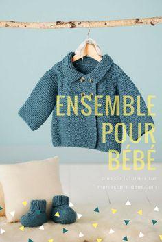 Découvrez le patron gratuit pour tricoter des chaussons et un gilet pour  bébé. Laine Tricot 4e40b52c341