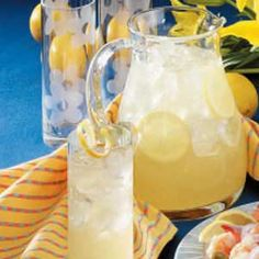 Homemade Lemonade Recipe - a bbq isn't complete without homeade lemonade. #tasteofhome #july4th