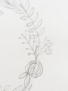 Simple Steps for Drawing a Wreath - Krystal Whitten