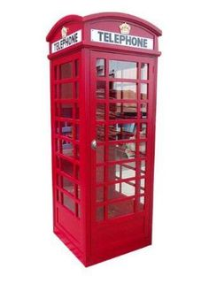 D-Art Collection Solid Mahogany Wood Big London Telephone Booth (Red)(Glass) London Telephone Booth, London Phone Booth, Creative Office Space, Walpaper Black, Home Decor Outlet, Modern Contemporary, Indoor Outdoor, Sculpture, Benches