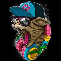 Cool and Wild Cat by *Design-By-Humans Designs & Interfaces / Fashion / T-Shirt Graphics©2012-2013 *Design-By-Humans