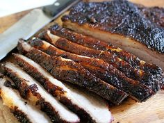Smoked Beef Brisket with Ancho Chile Barbecue Sauce