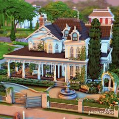 Sims House Plans, Casas The Sims 4, Animal Crossing Game, Enjoy It, Building Ideas, Sims 3, Bb, Houses, Mansions