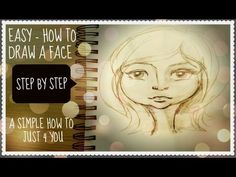 Art from the Start - How to draw a whimsical face (Using simple proportion guidelines) - YouTube