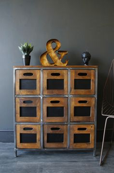 Wood Storage Chest With Drawers