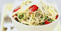 Feed your eyes and well as your stomach with this colourful yet simple pasta main.
