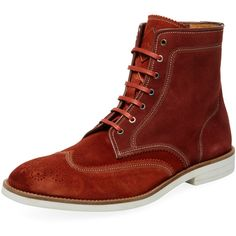 Paul Smith Men's Pearl Rust Boot - Rust/Copper - Size 8 ($299) ❤ liked on Polyvore featuring men's fashion, men's shoes, men's boots, unknown, paul smith mens shoes, mens wingtip shoes, paul smith mens boots, mens shoes and mens boots