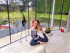 Blending with nature- pigeon pose