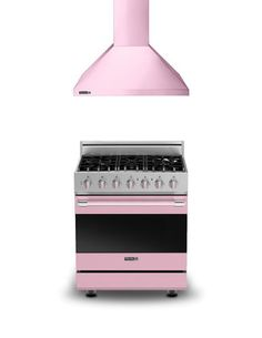"Viking Pink D3 30"" W. Range and 30"" W. Ventilation Hood 