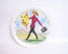 Excited to share the latest addition to my #etsy shop: Vintage Limoges Henri D'arceau & Fils Women of the Century The Independent Woman 1960 Decorative Plate http://etsy.me/2hSvdbx #vintage #collectibles #birthday #christmas #limoges #henridarceaufils #womenofthecentury #independ