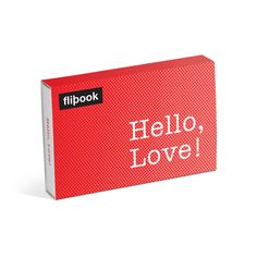 Knock Knock Hello, Love! Flipbooks are like old-school classic flipbooks. Fun anniversary gifts, romantic gifts for her, and gift ideas for boyfriends.