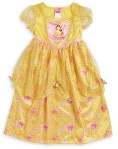 65e3f257f Little Girl's Belle Nightgown #glitters#designed#ruffles Fantasy Princess, Disney  Princess Belle