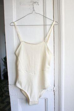 Cashmere bodysuit in ivory white
