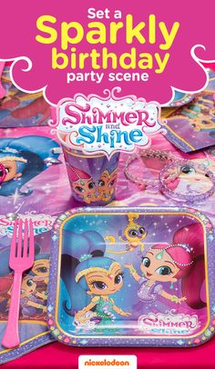 Grant your child's wish with a Shimmer and Shine themed party. Brightly colored party supplies will take guests on a magical adventure. From gifts to goodie bags, find everything you need to throw a memorable birthday bash featuring your favorite Nickelodeon show, including Shimmer and Shine party decorations like these paper plates, napkins, and cups.