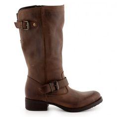 Bottes Cuir marron pour Femme : Bottes Cable - 84,00€