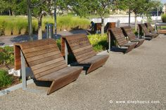 Awesome benches.