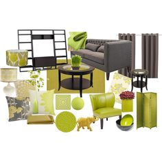 """Citron & Lime Living Room"""