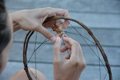 How to make dreamcatchers. (It would be great to use found items, like eucalyptus twigs and crow feathers.) Teach kids to make these from the nature around them and they can hang them in the trees or give them as gifts to friends with their own unique designs! Love it! <3