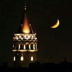 Galata Kulesinin ay  ile sohbeti