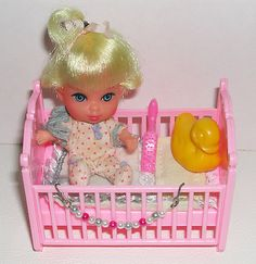 Liddle Diddle - a Liddle Kiddle from 1965. I had her. I remember the little pink crib more than I remember the doll. lol