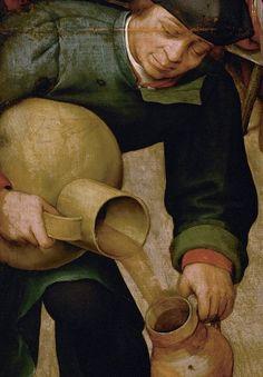Detail from The Peasant Wedding, Pieter Bruegel the Elder, 1566 - 1569