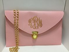 this is really awk.. those are my initials.     Monogrammed Clutch Purse-LIGHT PINK. $30.00, via Etsy.