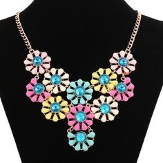 I just discovered this while shopping on Poshmark: Colorful Flowers Rhinestone…